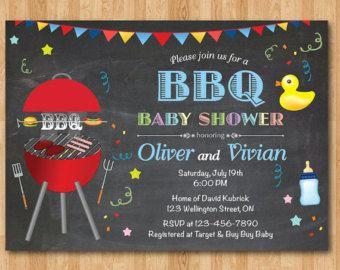 BBQ Baby Shower Invitation. BabyQ Shower Invitation. by arthomer