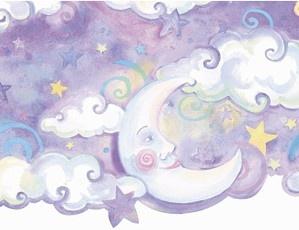That's My Room Store - Celestial Nursery Border-Purple, $33.00 (http://www.thatsmyroom.com/celestial-nursery-border-purple/)