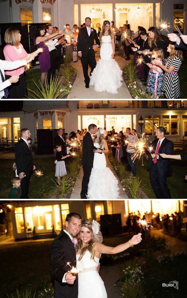Weddingdeparture Weddingsparklers Chantal Mansion
