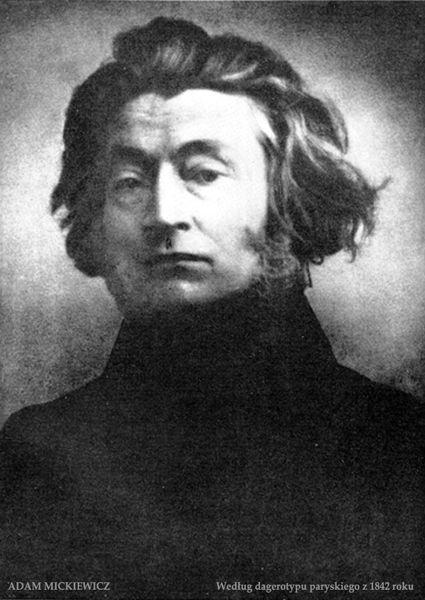 Adam Mickiewicz według dagerotypu paryskiego z 1842 roku - History of philosophy in Poland - Wikipedia, the free encyclopedia