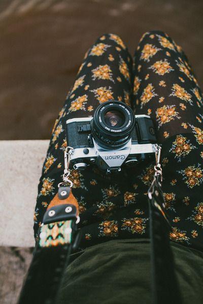1970's Canon film camera and wide strap