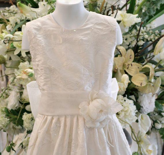 First Communion Dress ~ Communion Dresses - Holy First Communion Dress ~ Couture Communion Dress, Confirmation Dresses / www.couturesbylaura.etsy.com