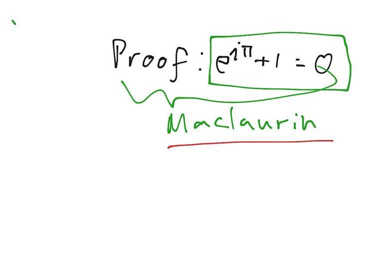 Proof e^i*pi=0 -- Euler formula