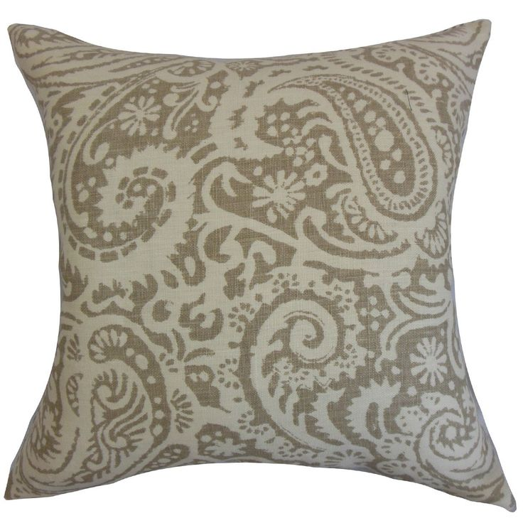 "Nellary 24"" x 24"" Down Feather Throw Pillow 24"" x 24"" Down Feather Throw Pillow Stone"