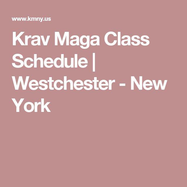 Krav Maga Class Schedule | Westchester - New York