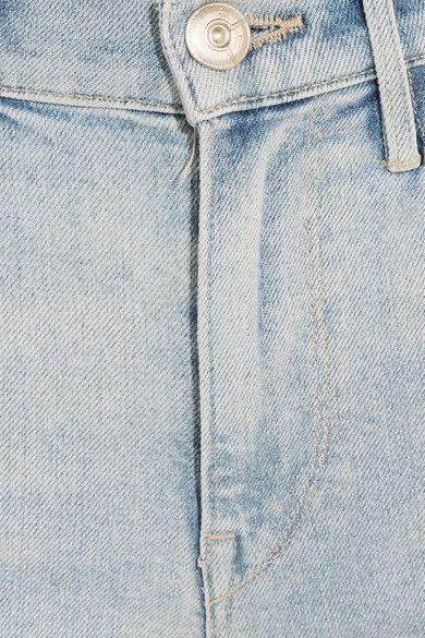 3x1 - W3 Distressed High-rise Slim-leg Jeans - Light denim - 26
