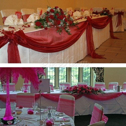 Top 25 Best Wedding Head Tables Ideas On Pinterest: Details About 5M*1.35M Sheer Organza Swag DIY Fabric