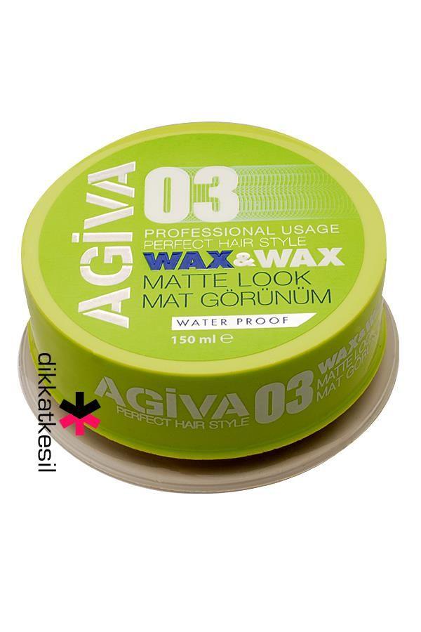 Agiva Wax, Saç Şekillendirici Mat Görünüm 03 Yeşil 150ml http://www.dikkatkesil.com/agiva-wax-jole
