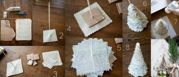2 astuces bricolage pour faire un mini sapin en papier. Black Bedroom Furniture Sets. Home Design Ideas
