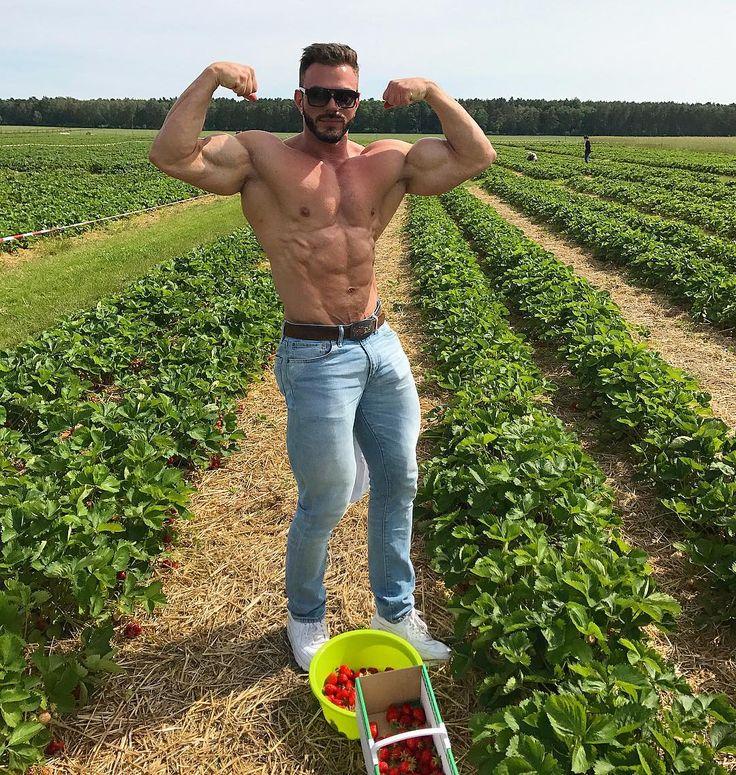 Strawberry is my favorite berry 🍓❤️🍓 Наконец-то я на этом клубничном поле😍🍓 Две в рот, одна в корзину. Что самое интересное, выйдя с поля кроссовки остались белыми 😆  #степанпереверзев #берлин #клубника #спорт #фитнес #мотивация #бодибилдинг #stepanpereverzev #fitnessmodel #gymstyle #bodybuilding #shredded