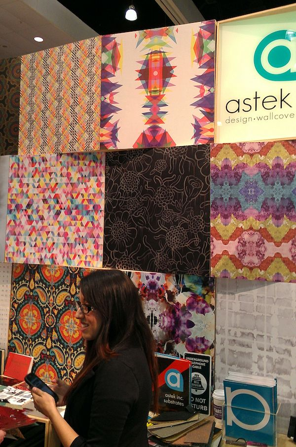 colorful new wallpaper designs coming from Astek | PURE HOME GOES TO DWELL ON DESIGN | http://blog.purehome.com