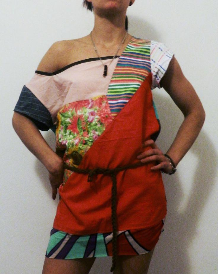 RECYCLING Tunic DRESS (proj. MisZmASz recycling fashion), do kupienia w DecoBazaar.com  www.facebook.com/miszmaszfashion