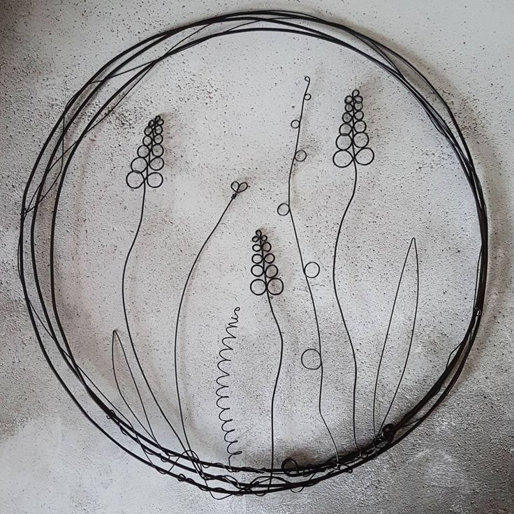 Wild Meadow of Flowers Wire Wall Art | Black Iron Wire | Garden Art