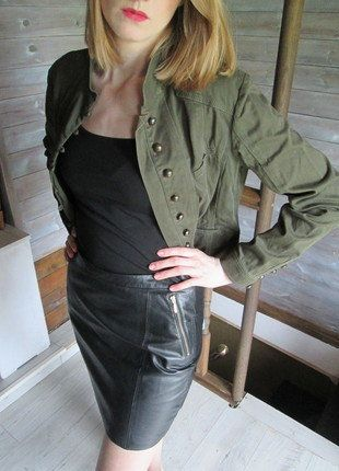 Kup mój przedmiot na #vintedpl http://www.vinted.pl/damska-odziez/marynarki-zakiety-blezery/16819237-kurtkazakiet-militarna-khaki-vintage-r40