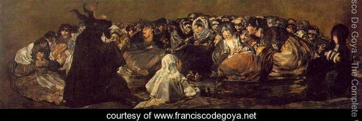 Witches Sabbath (The Great He-Goat) - Francisco De Goya y Lucientes - www.franciscodegoya.net