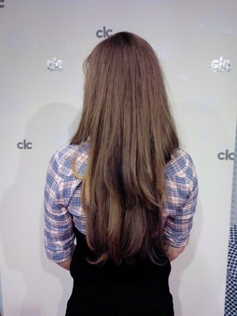 Laagjes in lang, veel en dik haar knippen #model #hair #layers  Layered cut in thick hair.