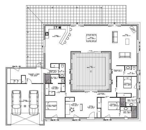 334 best Plan plein pied maison images on Pinterest Floor plans - modele de construction maison