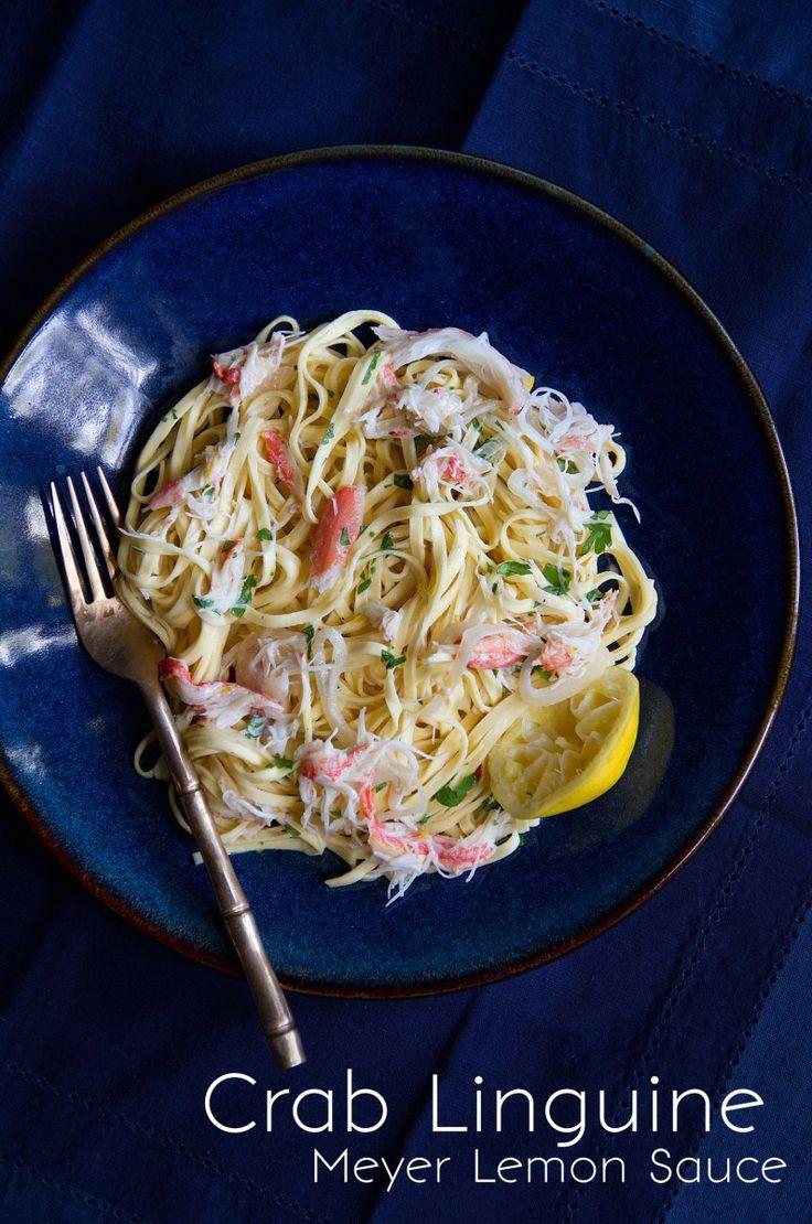 Crab Linguine with Foraged Meyer Lemon Sauce