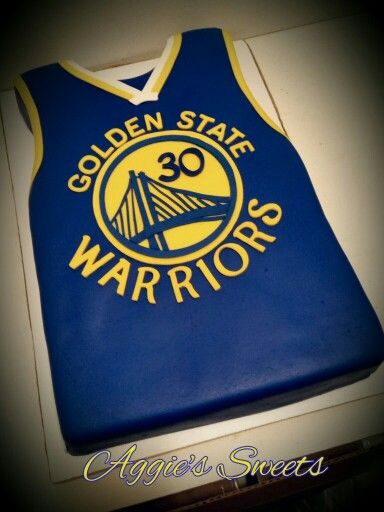 Golden State Warriors Jersey Cake   Aggie's Sweets   Pinterest   Golden state warriors, Golden ...