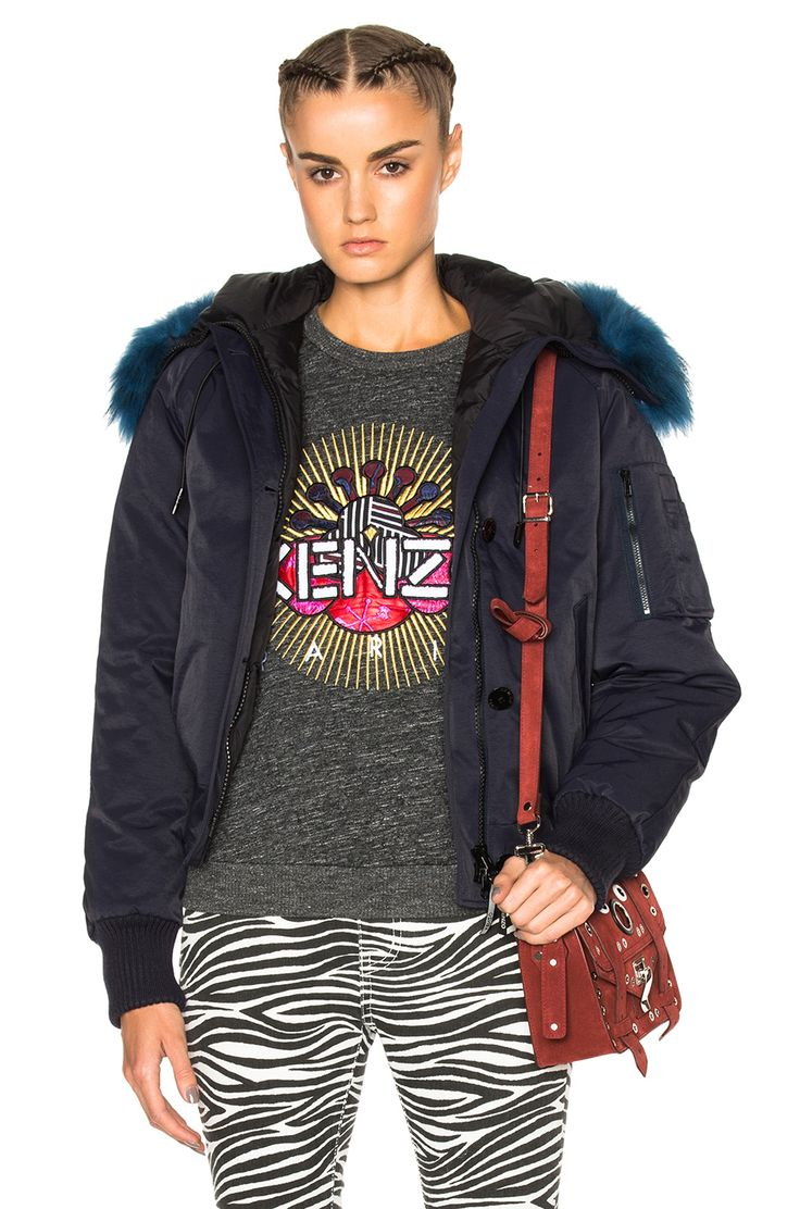 KENZO Tech Jacket With Sheep Fur. #kenzo #cloth #