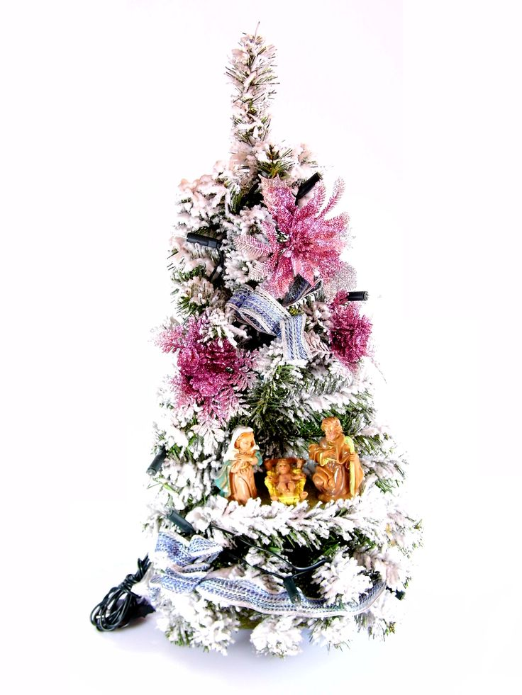 Albero di Natale con statue Natività modello Agata   Albero di natale sintetico innevato, con luci, statue Natività e decori floreali   DIMENSIONI larghezza cm 27 profondità cm 27 altezza cm 55   CARATTERISTICHE collana n. 10 luci bianche (tonalità calda, alimentazione 220 V) statue in resina  Disponibile al seguente link  http://www.ovunqueproteggimi.com/collezione-statue/articoli-natalizi/alberi-di-natale/