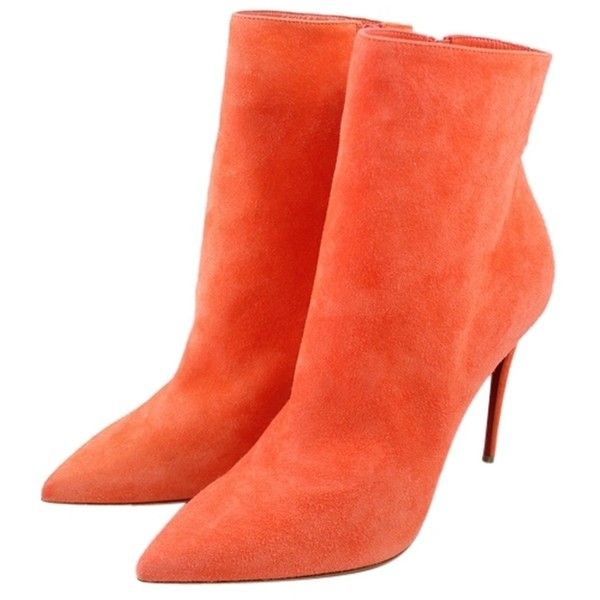 Artesur ? christian louboutin suede booties Red pointed toes