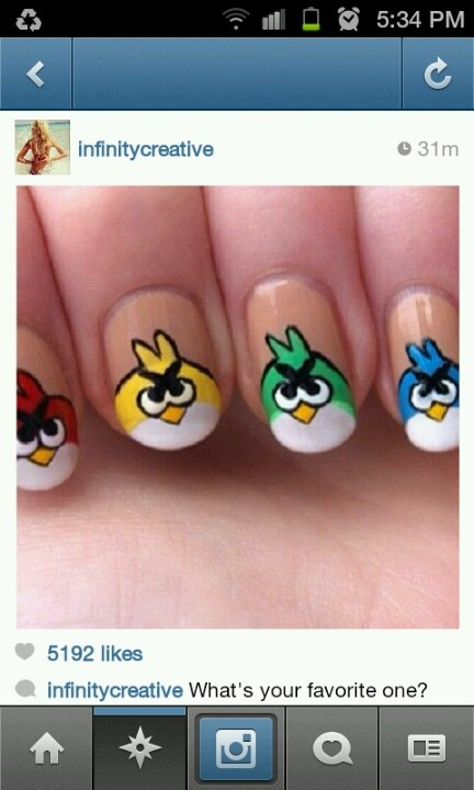 23 best Fingernails images on Pinterest | Belle nails, Angry birds ...