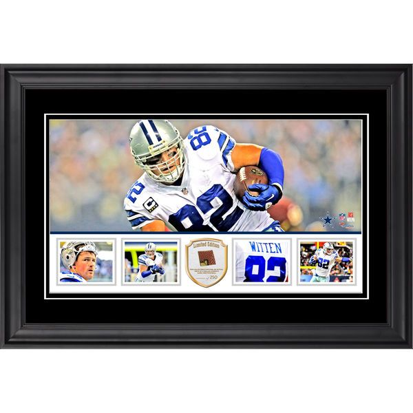 Jason Witten Dallas Cowboys Fanatics Authentic Framed 10'' x 18'' Panoramic with Piece of Game-Used Football - Limited Edition of 269 - $99.99