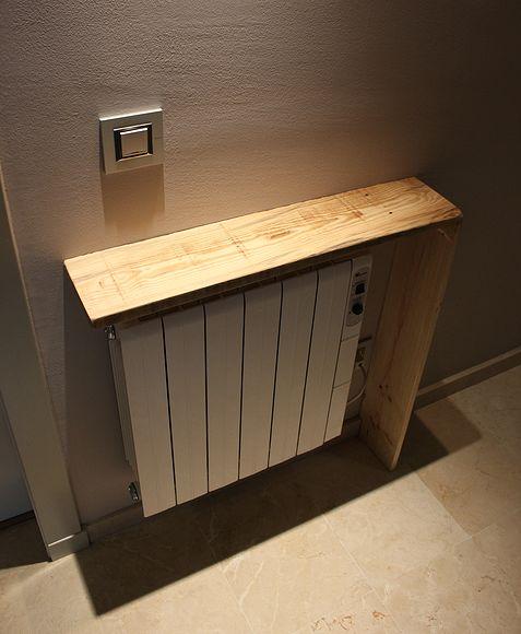 Cubre radiador con madera de palet...