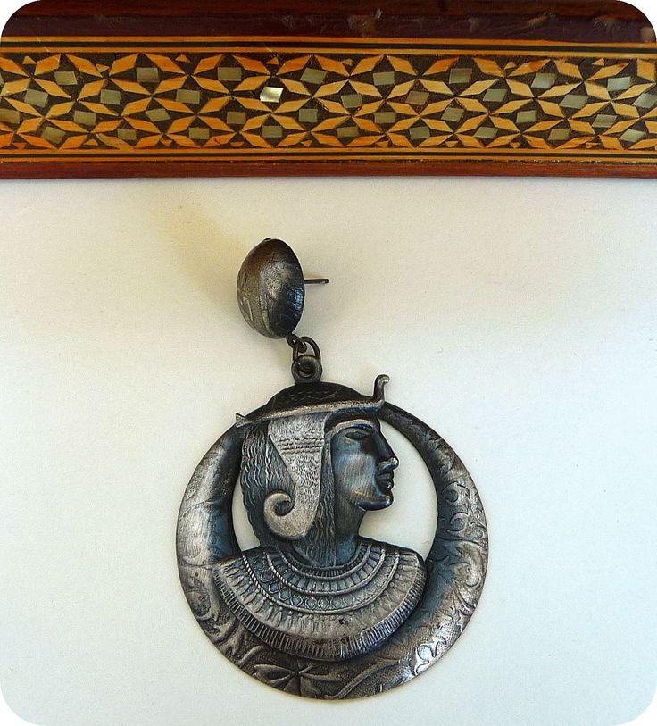 VIintage Ethno Ohrringe Boho Hippie Statement Ohrstecker Ägypten Pharao Earrings in Uhren & Schmuck, Modeschmuck, Ohrschmuck | eBay