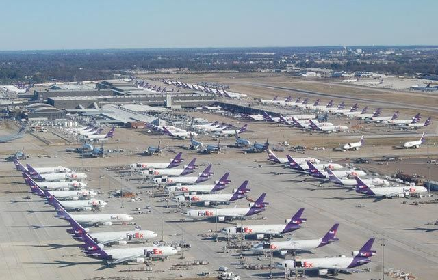 "Memphis International Airport is home to the FedEx Express global ""SuperHub,"" which processes many of their packages. From 1993 to 2009 Memphis had the largest cargo operations of any airport worldwide. MEM fell into second position in 2010, behind Hong Kong; however, it remained the busiest cargo airport in the United States."