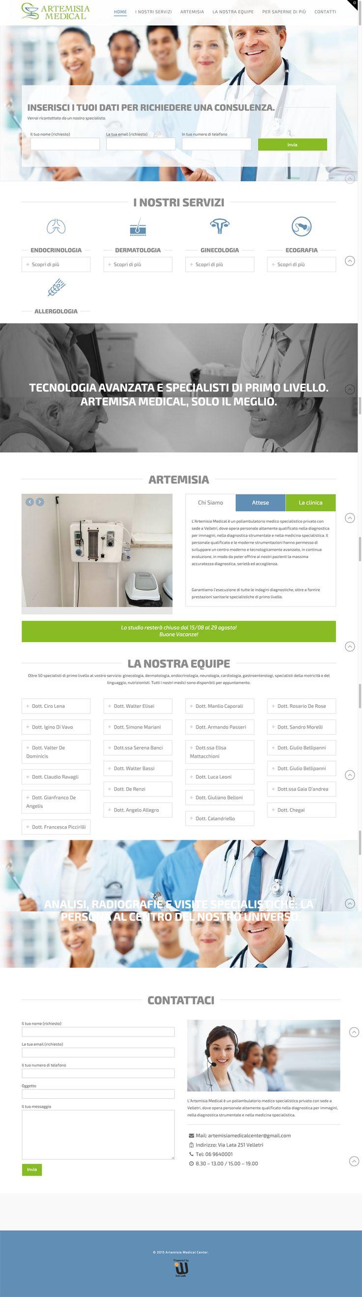 Sito web di presentazione per Artemisia Medical - Roma - HomePage - Realizzato con Wordpress- Anno 2015
