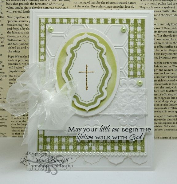 Baby's Christening by whippetgirl - Cards and Paper Crafts at Splitcoaststampers