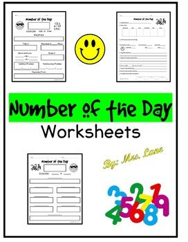 Number of the Day is a great activity for morning work, individual work, whole group, small group or center work that will reinforce many different ways to represent a number and will build strong number sense. *If used for morning work, all you have to do is write a new number on the board every morning!