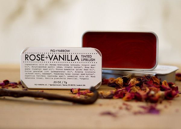 Fig and Yarrow: Rose and Vanilla Lip Blush: Gardenista
