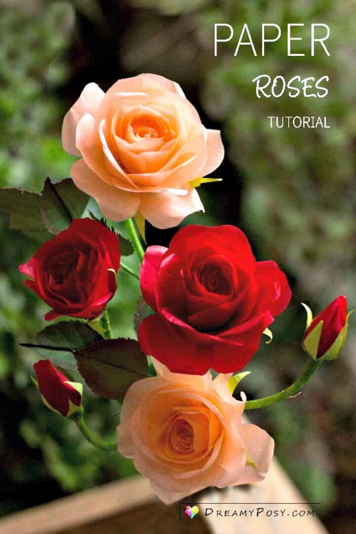 20 Awesome DIY Rose Crafts