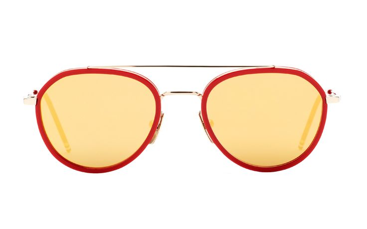One of the main trends of the season: RUNWAY GOLD | THOM BROWNE TB-801D sunglasses