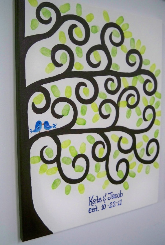 Thumbprint Tree Wedding Guestbook Owls by BrushfireStudio on Etsy, $45.00 - LOVE LOVE LOVE this one...