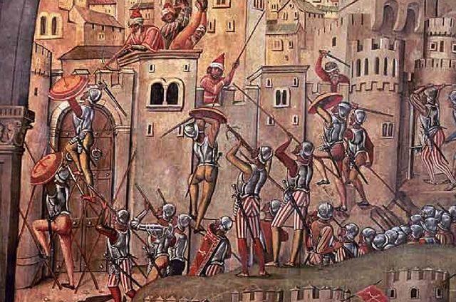 Juan de Borgoña: Conquista de Orán (1514). Detalle del asalto   Flickr: Intercambio de fotos