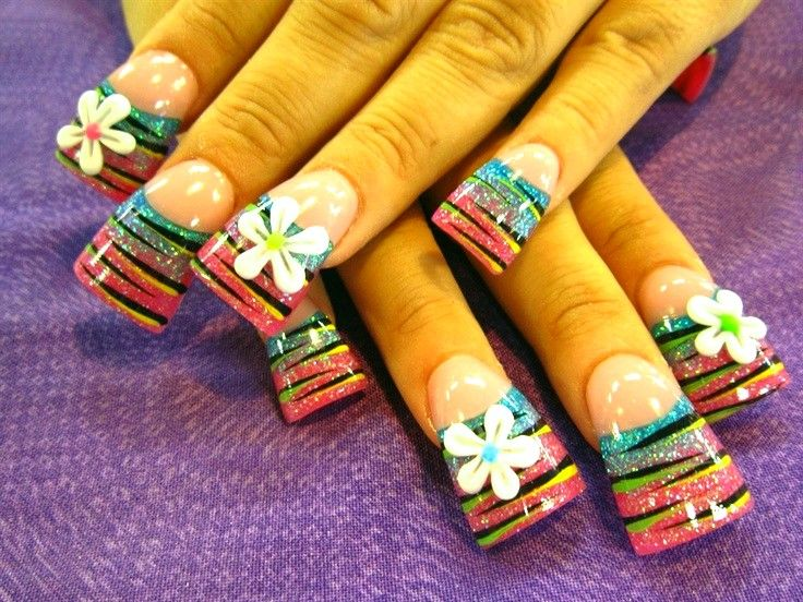 3d Nail Art Designs Flowers Papillon Day Spa