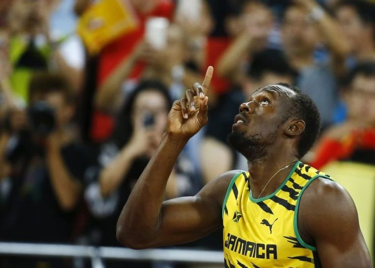 Usain Bolt burns up the track while his heart burns for God.