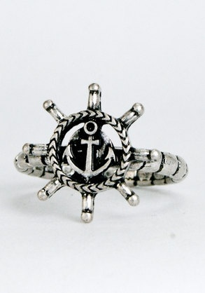Anchor Ring by LostSoulsJewelry on Etsy, $15.00