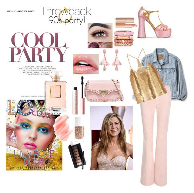 """90s party"" by chechylmiliani on Polyvore featuring Miu Miu, Gap, Adolfo Courrier, Oscar de la Renta, Valentino, Tom Ford, TIBI, Too Faced Cosmetics, Birchrose + Co. and Chanel"