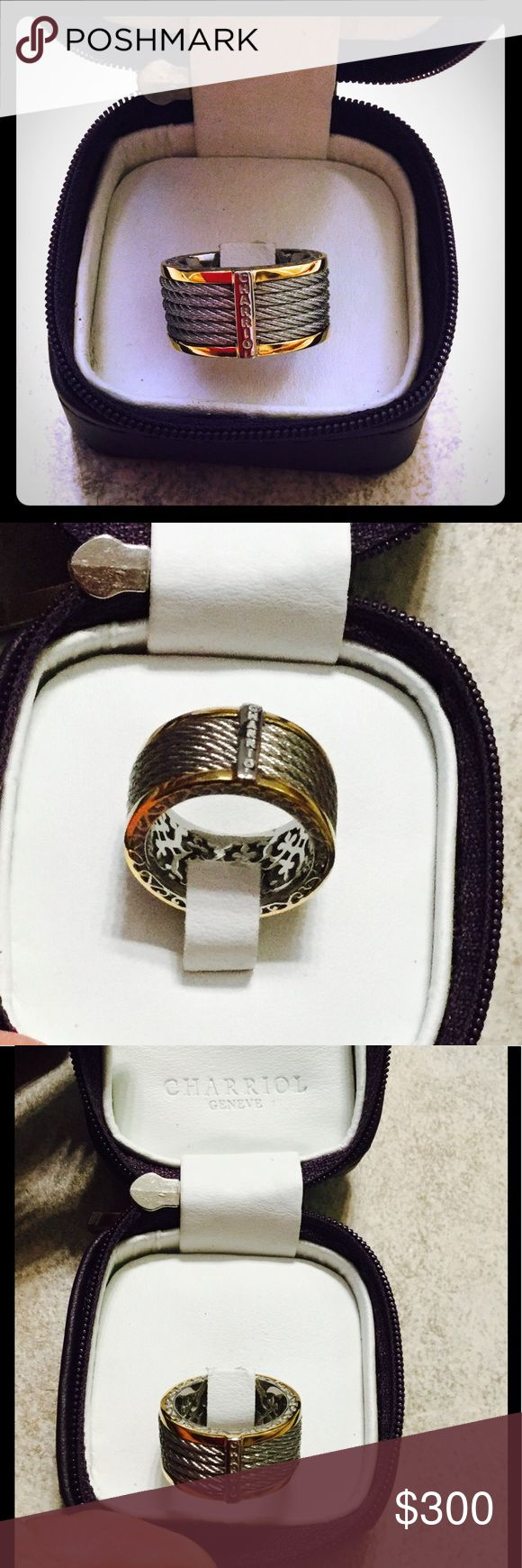 Philippe Charriol 18k gold and steel cable ring Authentic Philippe Charriol Ring.Never wear!! Great condition like new! charriol  Jewelry Rings