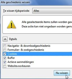 Cookies wissen in FireFox