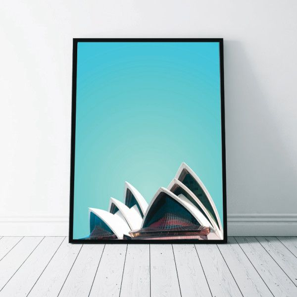 """Beautiful abstract """"Sydney Opera House Print"""". Printed on quality 200gsm Satin Photographic paper, this print would be a cool addition to any home."""