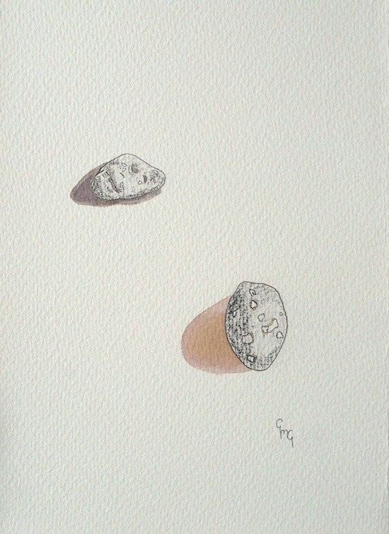 Original Drawing / Watercolour Painting of Collected Pebbles by RocksandRowan, £20.00  https://www.etsy.com/uk/shop/RocksandRowan