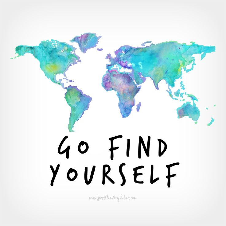 Go Find Yourself. #travel #inspiration