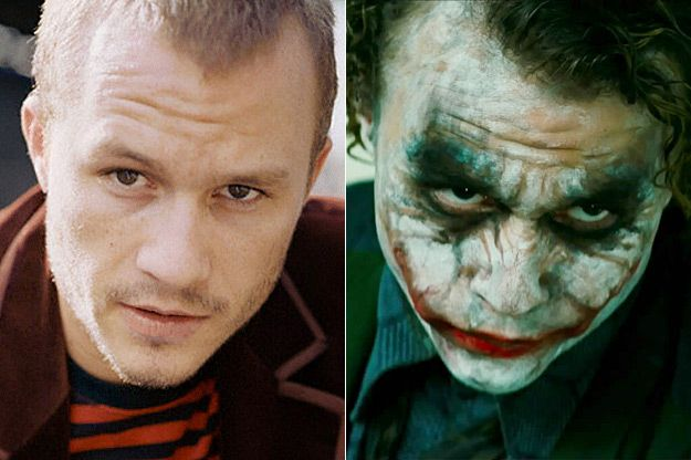 The 16 Best Special Effects Makeup Before And Afters    Heath Ledger/Joker