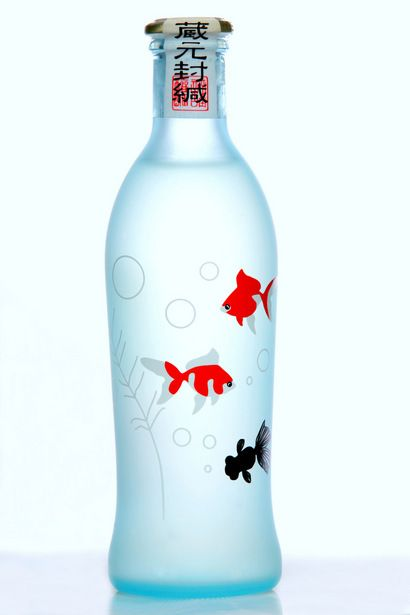 Sake Summer fishes. This is probably one of the most popular sake bottles and one of the prettiest too. PD
